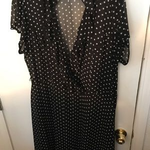 Dress Barn polka dot dress size 22